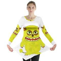 Monster Troll Halloween Shudder  Long Sleeve Tunic
