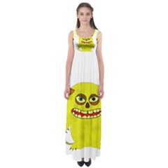 Monster Troll Halloween Shudder  Empire Waist Maxi Dress