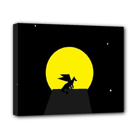 Moon And Dragon Dragon Sky Dragon Canvas 10  x 8