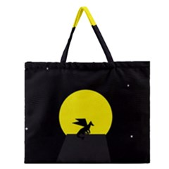 Moon And Dragon Dragon Sky Dragon Zipper Large Tote Bag