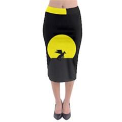 Moon And Dragon Dragon Sky Dragon Midi Pencil Skirt