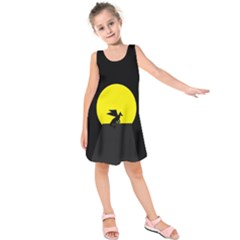 Moon And Dragon Dragon Sky Dragon Kids  Sleeveless Dress