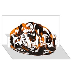 Ornament Dragons Chinese Art BEST BRO 3D Greeting Card (8x4)