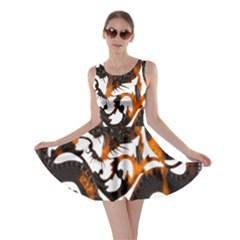 Ornament Dragons Chinese Art Skater Dress