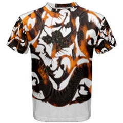 Ornament Dragons Chinese Art Men s Cotton Tee