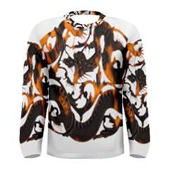 Ornament Dragons Chinese Art Men s Long Sleeve Tee