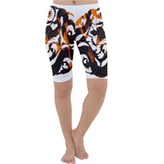 Ornament Dragons Chinese Art Cropped Leggings