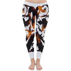 Ornament Dragons Chinese Art Classic Winter Leggings