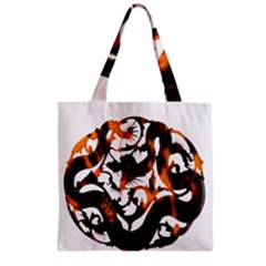 Ornament Dragons Chinese Art Zipper Grocery Tote Bag