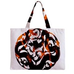 Ornament Dragons Chinese Art Zipper Mini Tote Bag