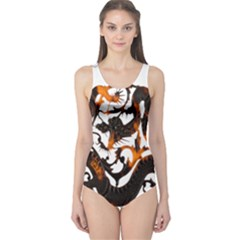 Ornament Dragons Chinese Art One Piece Swimsuit