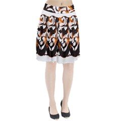 Ornament Dragons Chinese Art Pleated Skirt