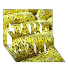Corn Grilled Corn Cob Maize Cob TAKE CARE 3D Greeting Card (7x5)