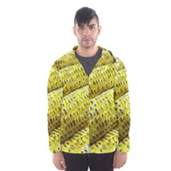 Corn Grilled Corn Cob Maize Cob Hooded Wind Breaker (Men)