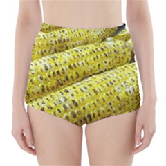 Corn Grilled Corn Cob Maize Cob High-Waisted Bikini Bottoms