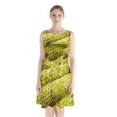 Corn Grilled Corn Cob Maize Cob Sleeveless Chiffon Waist Tie Dress