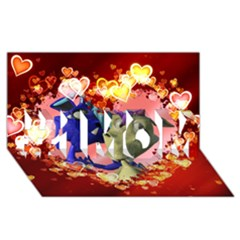 Ove Hearts Cute Valentine Dragon #1 MOM 3D Greeting Cards (8x4)