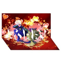 Ove Hearts Cute Valentine Dragon SORRY 3D Greeting Card (8x4)