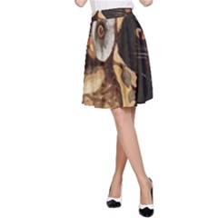 Owl And Black Cat A-Line Skirt