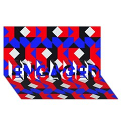 Pattern Abstract Artwork ENGAGED 3D Greeting Card (8x4)