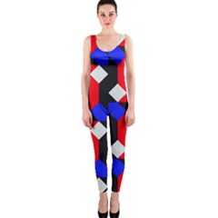 Pattern Abstract Artwork OnePiece Catsuit