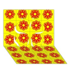 Pattern Design Graphics Colorful Clover 3D Greeting Card (7x5)