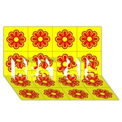 Pattern Design Graphics Colorful BEST SIS 3D Greeting Card (8x4)