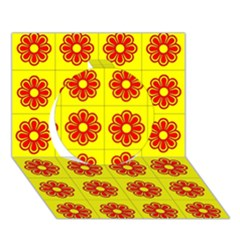 Pattern Design Graphics Colorful Circle 3D Greeting Card (7x5)