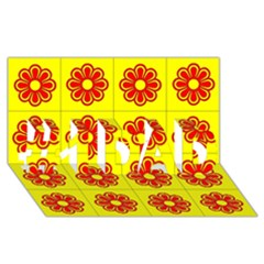 Pattern Design Graphics Colorful #1 DAD 3D Greeting Card (8x4)