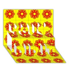 Pattern Design Graphics Colorful You Did It 3D Greeting Card (7x5)
