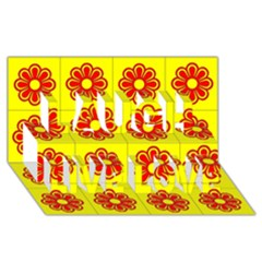 Pattern Design Graphics Colorful Laugh Live Love 3D Greeting Card (8x4)