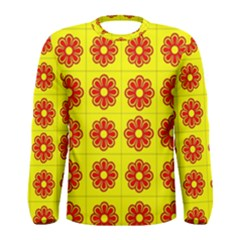 Pattern Design Graphics Colorful Men s Long Sleeve Tee