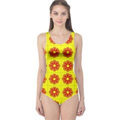 Pattern Design Graphics Colorful One Piece Swimsuit