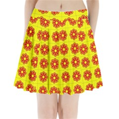 Pattern Design Graphics Colorful Pleated Mini Skirt