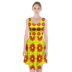 Pattern Design Graphics Colorful Racerback Midi Dress