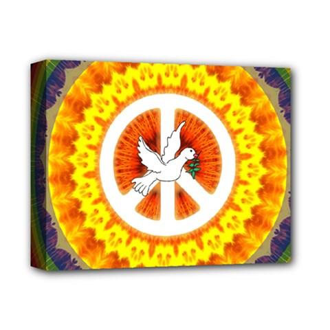Peace Art Artwork Love Dove Deluxe Canvas 14  x 11