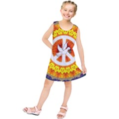 Peace Art Artwork Love Dove Kids  Tunic Dress