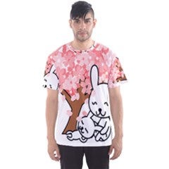 Rabbit Bunnies Animal Cute Tree Men s Sport Mesh Tee