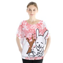 Rabbit Bunnies Animal Cute Tree Blouse