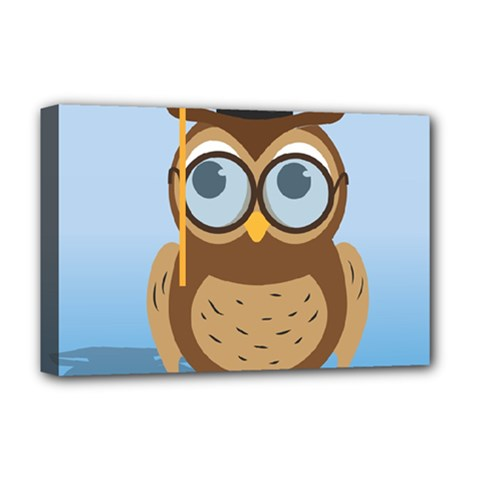 Read Owl Book Owl Glasses Read Deluxe Canvas 18  x 12
