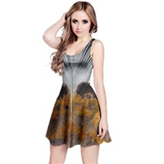 Spring Bird Feather Turkey Feather Reversible Sleeveless Dress