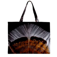 Spring Bird Feather Turkey Feather Zipper Mini Tote Bag