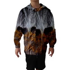 Spring Bird Feather Turkey Feather Hooded Wind Breaker (Kids)