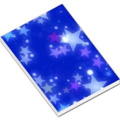 Star Bokeh Background Scrapbook Large Memo Pads