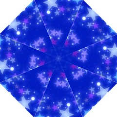 Star Bokeh Background Scrapbook Hook Handle Umbrellas (Large)
