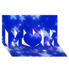 Star Bokeh Background Scrapbook MOM 3D Greeting Card (8x4)
