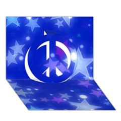 Star Bokeh Background Scrapbook Peace Sign 3D Greeting Card (7x5)