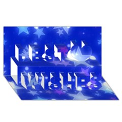 Star Bokeh Background Scrapbook Best Wish 3D Greeting Card (8x4)