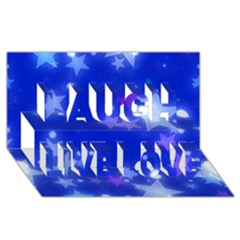 Star Bokeh Background Scrapbook Laugh Live Love 3D Greeting Card (8x4)