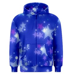 Star Bokeh Background Scrapbook Men s Zipper Hoodie